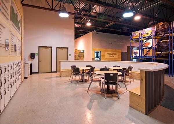 Food Bank Central NY Break room